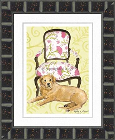 Amazon com : yellow lab pink flowers 9 25x11 5 : Baby