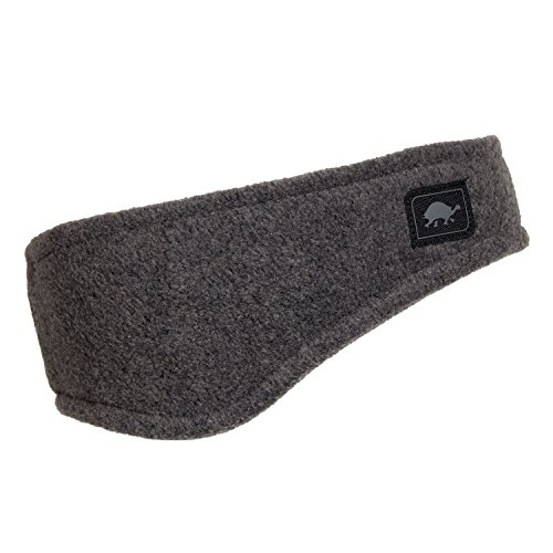 Turtle Fur Double-Layer Bang Band, Chelonia 150 Fleece Headband,Charcoal,One Size