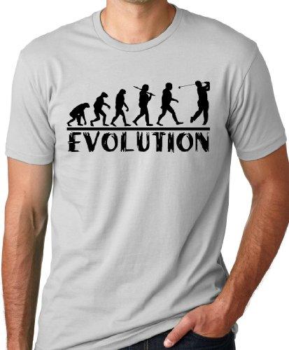 Golf Evolution Funny T-shirt Golfer Humor Tee Gray L