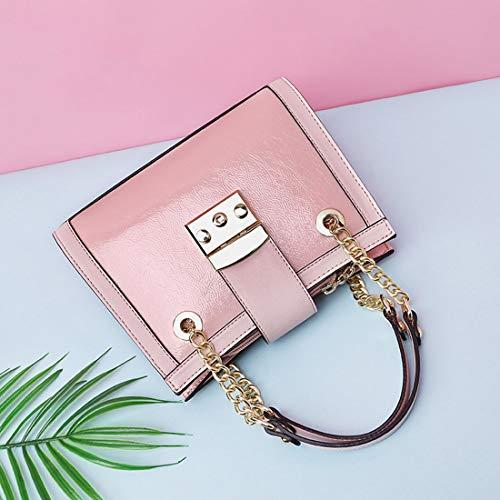 Negocios Bolso Cadena Casual Mano Black Colgado Mujer Pink Igspfbjn De Hombro color xSqACwFq1