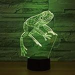 HIOJDWA Night Light 7 Color Change Visual 3D Lamp Led Animal Frog Night Lamp Christmas Gift for Baby Room Lights