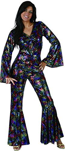 80s Jumpsuit Costume (Phertiful UrAmmi Way 1980'S Disco Costumes for Women Disco Clothing)