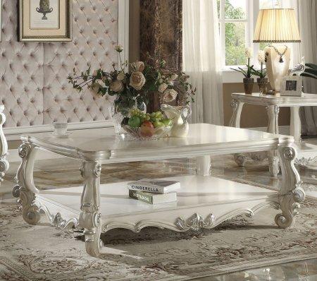 ACME Furniture 82123 Versailles Coffee Table, Bone White