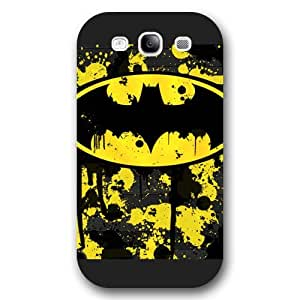 UniqueBox - Customized Personalized Black Frosted Samsung Galaxy S3 Case, The Joker, Batman Logo, Batman Samsung S3 case, Only fit Samsung Galaxy S3