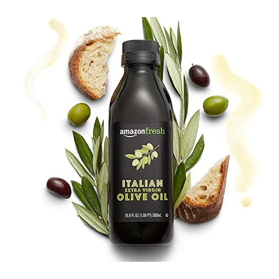 AmazonFresh Italian Extra Virgin Olive Oil, 16.9 fl oz (500mL) 2 A smooth blend with subtle notes of pepper and herbs Pressed and bottled in Italy Use for cooking, grilling, and in finishing dishes