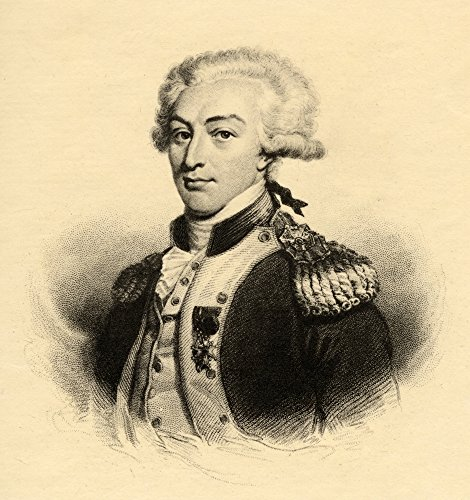 Marie-Joseph Paul Yves Roch Gilbert De Motier Marquis De Lafayette 1757-1834 French Military Leader And Statesman Photo-Etching From An Engraving By Hopwood From The Book Lady Jackson S Works Xi The