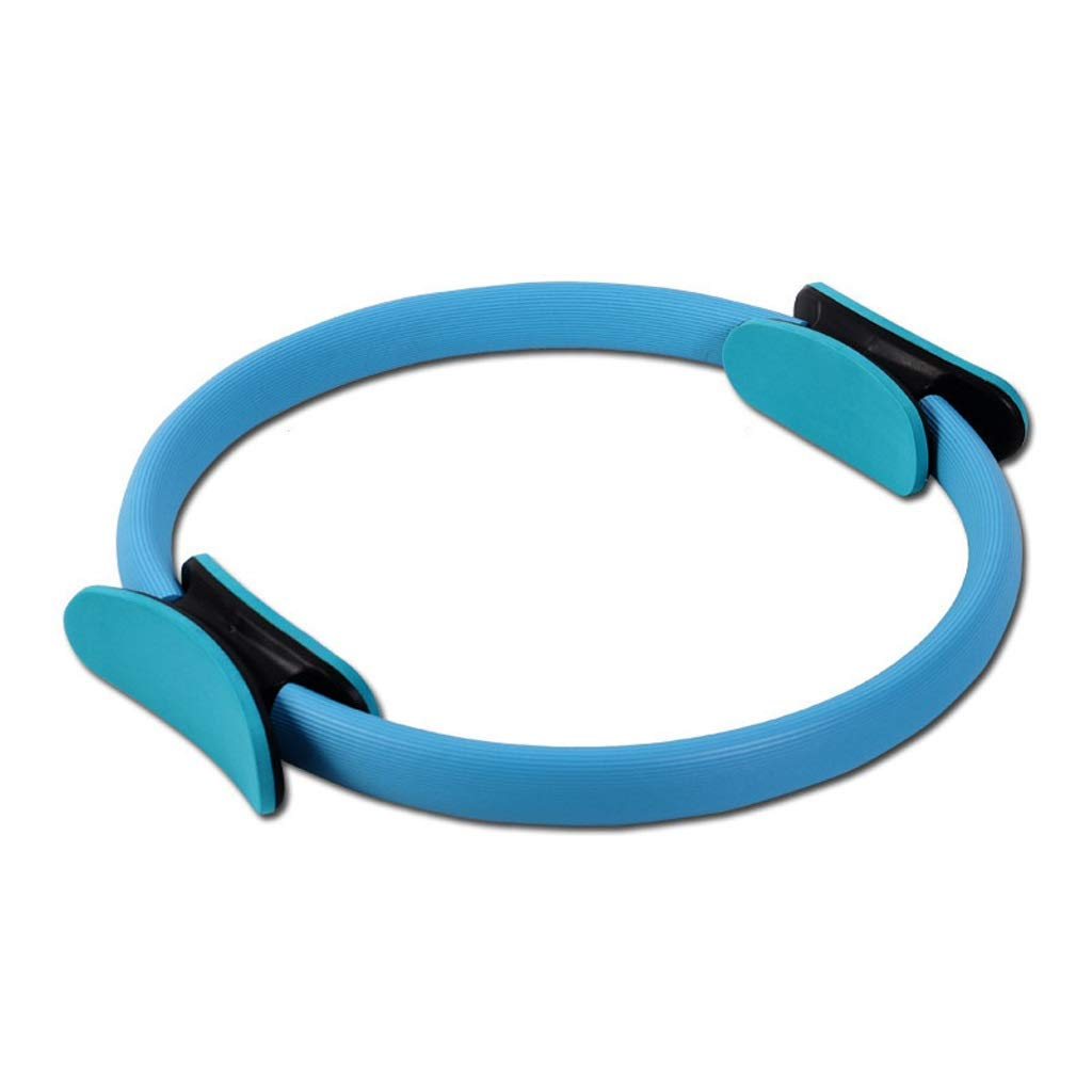Sports Pilates Ring Magic Fitness Circle Sculpt,Thighs Arms Chest Legs and Butt,Strengthen Core Stretching and Warming-Up Home Travel Gym (Color : Blue)