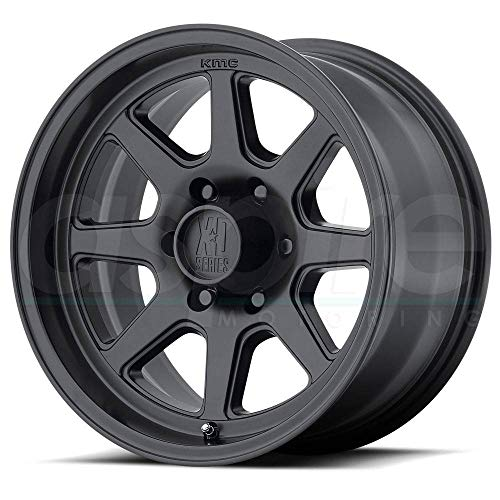 XD SERIES BY KMC WHEELS XD301 TURBINE Wheel with BLACK and Chromium (hexavalent compounds) (16 x 8. inches /6 x 108 mm, 0 mm Offset) (16in Xd Rims)