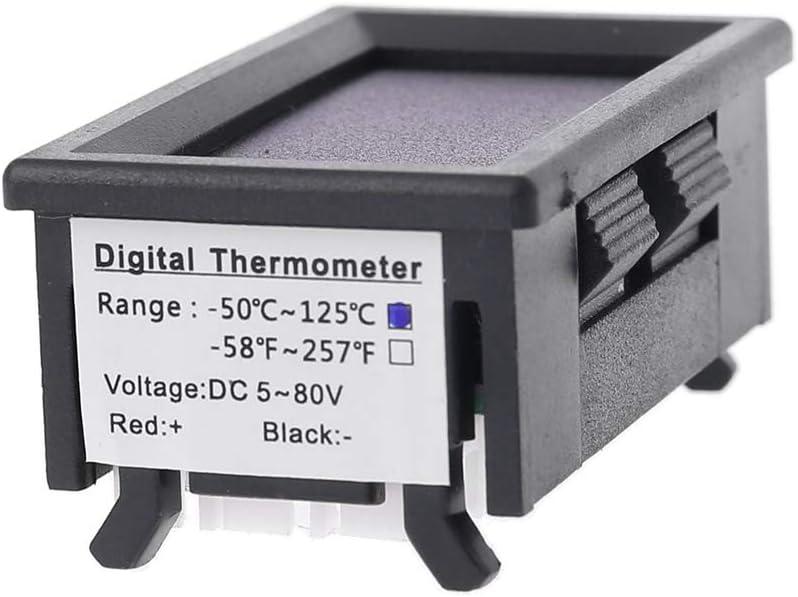 impermeabile 72 V con 2 NTC 12 V moto Sweo per auto 24 V Termometro doppio display DC 5 V-80 V con sensore di temperatura