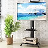 Rfiver Mobile TV Cart with Wheels Portable for