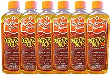 Holloway House Pure Orange Oil For Fine Wood, 16 Ounce Bottle Holloway House Inc. 1130-00016U