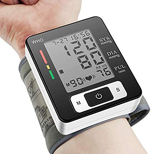 Blood Pressure Monitor, Portable Home LCD Digital Display Wrist Blood Pressure Watch Perfect for Health Monitoring