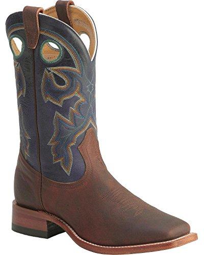 n Cowboy Boot Wide Square Toe Chestnut 10.5 D(M) US (Boulet Mens Medium Square)