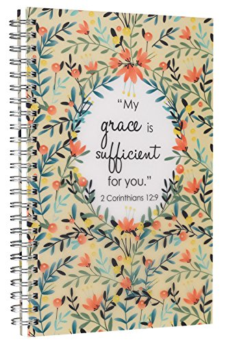 "Price comparison product image ""My Grace is Sufficient"" Printed PVC Cover Wirebound Journal / Notebook - 2 Corinthians 12:9"