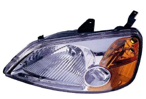 Depo 317-1119L-AS Honda Civic Driver Side Replacement Headlight Assembly ()