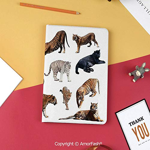 (Case for Samsung Galaxy T820 T825 Slim Folding Stand Cover PU Tab S3 9.7,Safari Decor,Collection of Tigersand Other Big Wild Cats Predatory Feline Zoo Lying Standing Background)