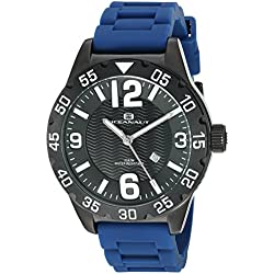 Oceanaut Men's 'Aqua One' Quartz Stainless Steel and Silicone Automatic Watch, Color:Blue (Model: OC2713)