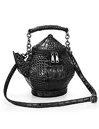 3D Outdoor Leisure Mobile Handbag Wear Resistant 3D Hip Flask Bag Teapot Bag Messenger Bag PU One-Shoulder Kettle Bag Portable PU Female Bag Personality