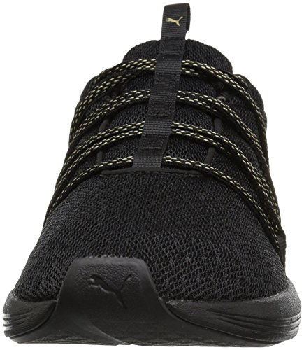 Prowl metallic Gold Puma Rete Wn Black Knit Donna Maglia Mesh Alt 4wzdZwq1