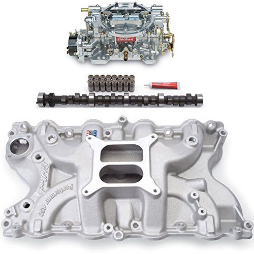 Edelbrock 2166PK Performer Power Package; Intake Manifold, Carburetor and Cams