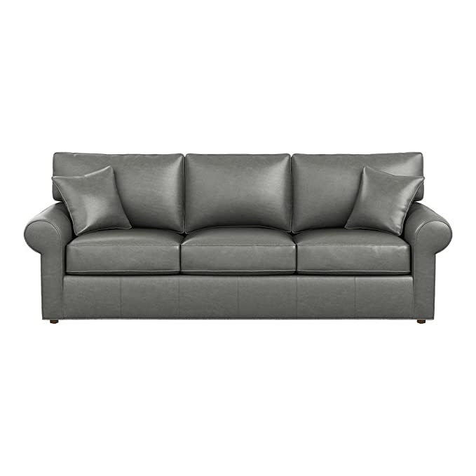Amazon.com: Ethan Allen Retreat roll-arm sofá de piel ...