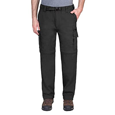 BC Clothing Mens Convertible Lightweight Comfort Stretch Cargo Pants or Shorts (Charcoal, M x 34) | Amazon.com