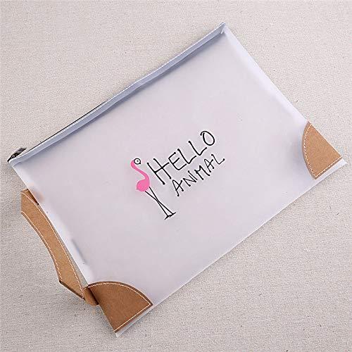 Cute Cartoon Flamingo Makeup Cosmetic Bag Clutch Pencil Case School Stationery -