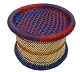 Pushkar Handicraft Cane Bar Stool For Indoor/Outdoor Furnishings - 1 Pc (Multicolor)