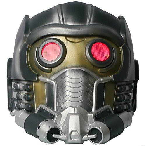 Cateye Halloween Lord Helmet Light up Plastic Mask Adult (Lord Helmet Halloween Costume)