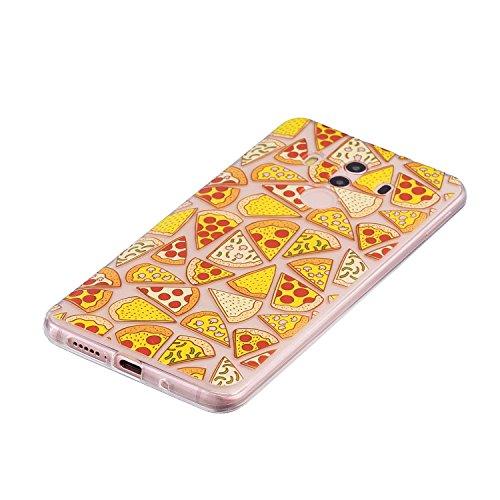 Funda para Huawei Mate 10 Pro , IJIA Transparente Pizza TPU Silicona Suave Cover Tapa Caso Parachoques Carcasa Cubierta para Huawei Mate 10 Pro (6.0)