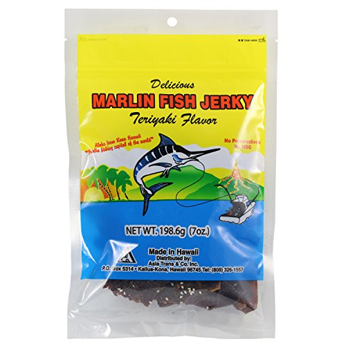 Hawaiian Marlin Fish Jerky Teriyaki Flavor 7 Oz - Flavor Fish Jerky