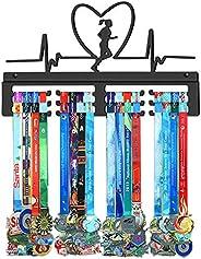 Running Medal Hanger,Marathon Medals Display Rack,Black Sturdy Steel Metal Holder,Wall Mount Over 50 Medals Ha
