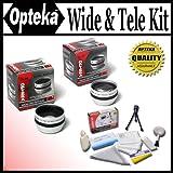 Opteka 0.5x Wide Angle and 2x Telephoto HD² Lens Set For Sony DCR-DVD408, DVD508, DVD808, DVD908, HC1000, HC85, IP210, IP220,PC100, PC110, PC115, PC120, PC330, SR190, SR200, SR290, SR300, SX45, SX65, SX85, TR7000, TR7100, TRV103, TRV110, TRV120, TRV130, TRV140, TRV145, TRV147, TRV150, TRV203, TRV210, TRV230, TRV240, TRV245, TRV250, TRV250, TRV260, TRV265, TRV270, TRV280, TRV285, TRV30, TRV310, TRV315, TRV320, TRV330, TRV340, TRV345, TRV350, TRV351, TRV355, TRV356 and DCR-TRV361 Digital Camcorder, Best Gadgets