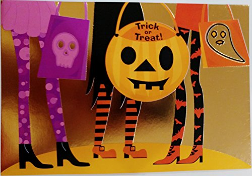 Trick or Treat! Girly Happy Halloween Greeting - Costumes Halloween Girly