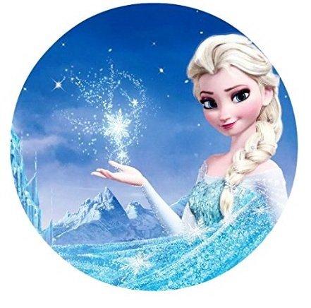 Frozen Elsa Anna Edible Image Photo Cake Topper Sheet Birthday Party 8 Inches Round 77830