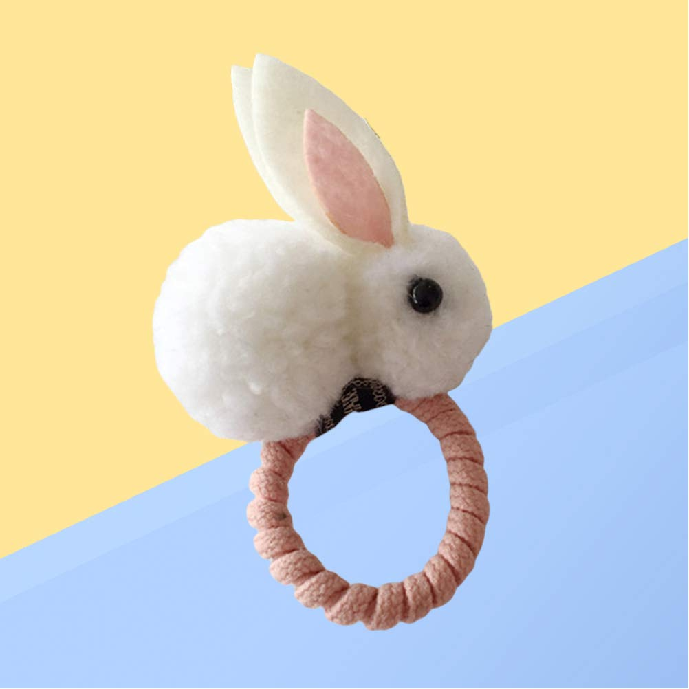 Amosfun Rabbit Bunny Hair Ties Elastic Hair Ring Ponytail Holders Hair Accessories for Kids and Baby Girl