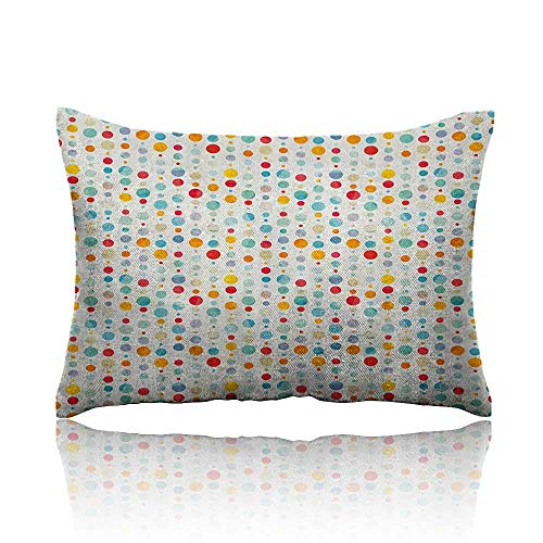 - Anyangeight Abstract Mini Pillowcase Colorful Circular Large Dots Bubble Happy Hipster Kids Nursery Stylish Fun Print Fun Pillowcase 18