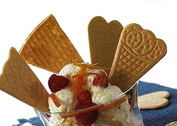 Unidades 400 Obleas cialda para helado con forma de corazón Obleas Ice Cream Waffle para helados dulces: Amazon.es: Hogar