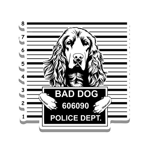 - More Shiz Bad Dog Cocker Spaniel Jail Funny Cute Vinyl Decal Sticker - Car Truck Van SUV Window Wall Cup Laptop - One 5.25 Inch Decal - MKS0872