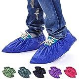 Dealglad® New 2 Pairs Unisex Reusable Waterproof Wearproof Non-slip PVC Rain Overshoes Shoes Cover L 35-43 (Random Color)