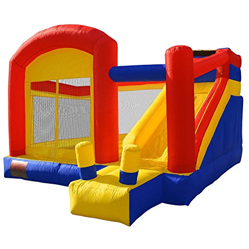 Cloud 9 Super Slide Bounce House - Inflatable Sliding Jump & Climb Combo without Blower (Kids Blow Up Bounce)