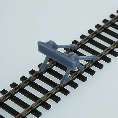 Outland Models Model Railroad Track Buffer/Stop 4 pcs HO Scale 1:87: Toys & Games