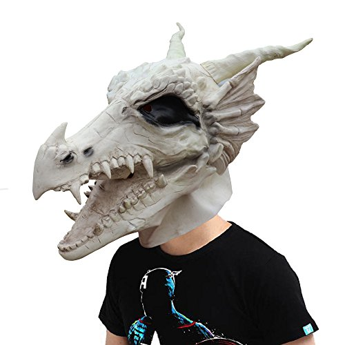 Australian Culture Costumes (Amazlab Costume Party Latex White Dragon Mask Decoration Halloween Party Novelty Props Supplier)
