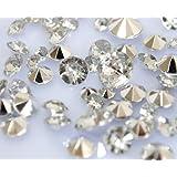Lot de 3000 cristaux recouverts d'une pellicule argentée pour table de mariage Haute qualité Pour 6 à 8 tables