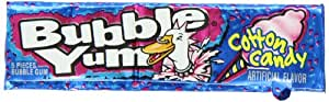 BUBBLE YUM Bubble Gum, Cotton Candy, 1.4 Ounce Box (Pack of 36) (Halloween Candy)