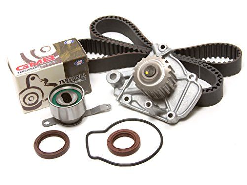 (Evergreen TBK224WPT Fits Honda Civic DelSol SL 1.6L D16Z6 Timing Belt Kit Water Pump)