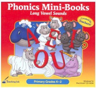 Amazon com : Phonics Mini-Books - Long Vowel Sounds (Grades