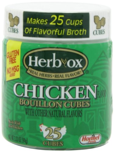 Chicken 25 Cubes - Herb-Ox Chicken Bouillon Cubes, 25-Cubes (Pack of 12)