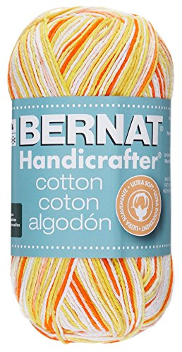 Bernat Handicrafter Cotton Yarn, Ombre, 12 Ounce, Creamsicle, Single Ball