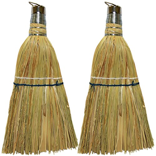 Set of 2 Black Duck Brand Corn Fiber Whisk Brooms! 10.5